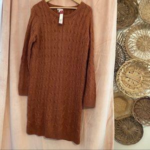 NWT Merona Sweater dress burnt orange   large